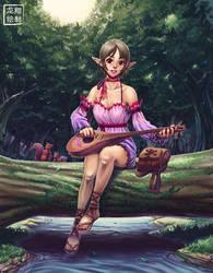 Imelda the elf minstrel by ShinRyuShou