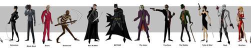 Batman Villains by bubbagump8