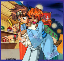 Lirin x Goku technicolor by InuMitsu