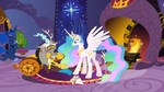 Some fun in the royal chambers by SwiftgaiatheBrony