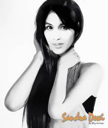 Sandra Dewi by seni-rupa