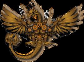 Steampunk Dragon by MessyArtwok