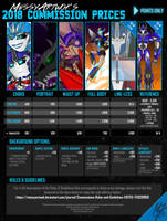 MessyArtwok's 2018 COMMISSION PRICES by MessyArtwok
