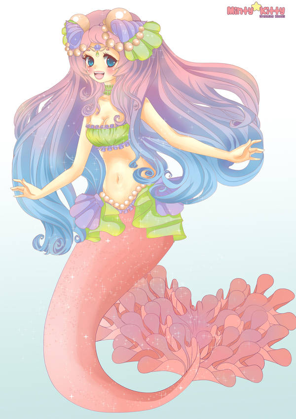 Magical Mermaid Commission by Minty-Kitty-Art