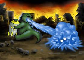Lil' Godzilla No Share by Kipli