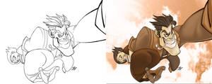 Booker Kidnaps Elizabeth by JAG-Comics