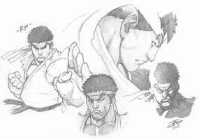 Ryu Study by JAG-Comics