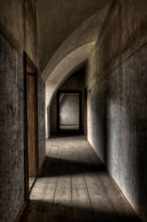 Hallway of silence by Victim4