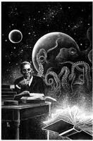 H.P. Lovecraft by blindbild