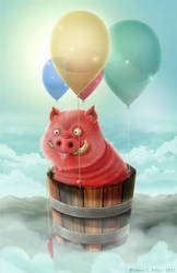 Pig Fly by Beleleu
