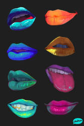Colorful lips by teyoliia
