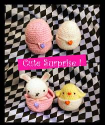 Cute Surprise amigurumi by vrlovecats
