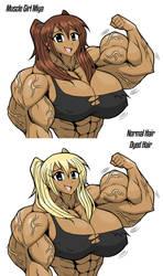Random Muscle Girl: Miya by Minamo21