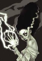 The Bride of Frankenstein by AlisZombie