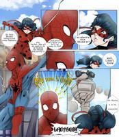 Spider-man and Ladybug by Maracia