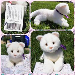 Douglas Cuddle Toy Fifi White Cat by peachyplush