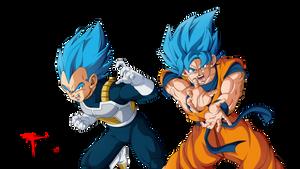 Goku y Vegeta Azulcitos by Theo001