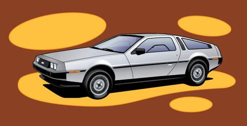 DeLorean Vector car by crackmatrix