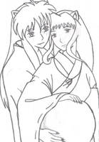 inuyasha and kagome by DragonLady027
