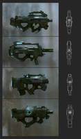 [NOVAfb] redsteam 2D weapon-mmg by sobaku-chiuchiu