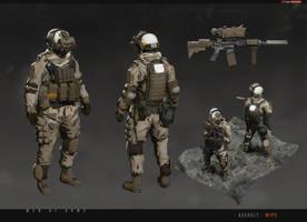 [MENatARMS] redsteam CA Assault WIP03 by sobaku-chiuchiu
