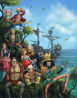 Straw Hat Pirates by Krikin