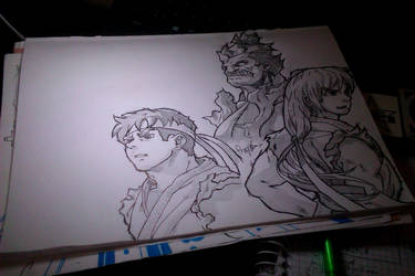 Streetfighter Compilation - Sketch by lefraggle