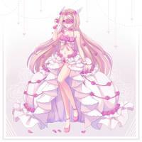 Commission - Elegant roses by NikkiLotte