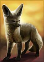 Bat Eared Fox by LLoryZ