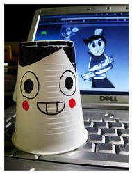 Jacques...as a plastic cup. by kurisquare