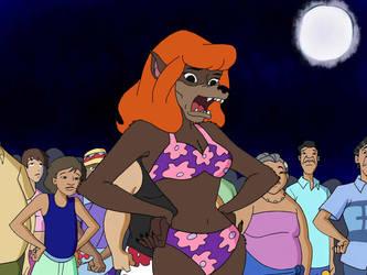 Werewolf Daphne In A Bikini by lonewarrior20