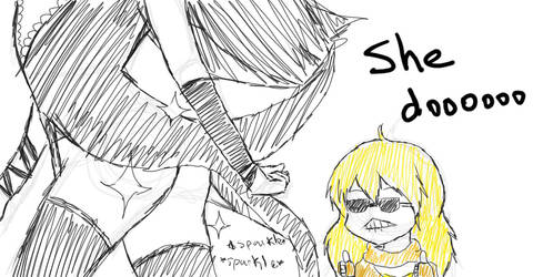 Do she got a booty? by Mia-chan00