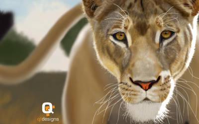 Lioness Speedpaint (Fur Study) by frankwyte81