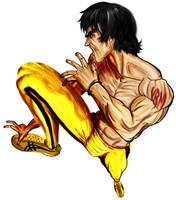 Bruce Lee GOD pants by Madpenciler