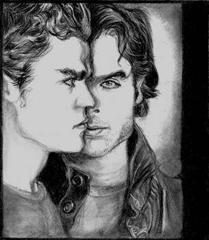 Vampire Diaries Stefan Damon by Catluckey