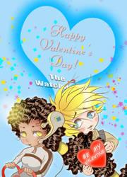 Happy Valentine Dee Paul Chibis by Catluckey