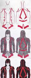 Assassin Jacket Original Design Progression by viperfan14