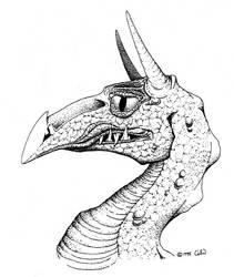 1995-Dragon-Head by Pensketch