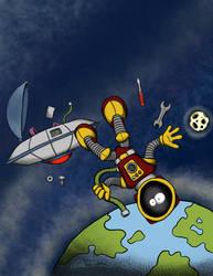 Unplanned Spacewalk by Pensketch