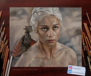 Portrait of Daenerys Targaryen . by Lizapoly