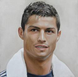 Portrait of  Cristiano Ronaldo by Lizapoly