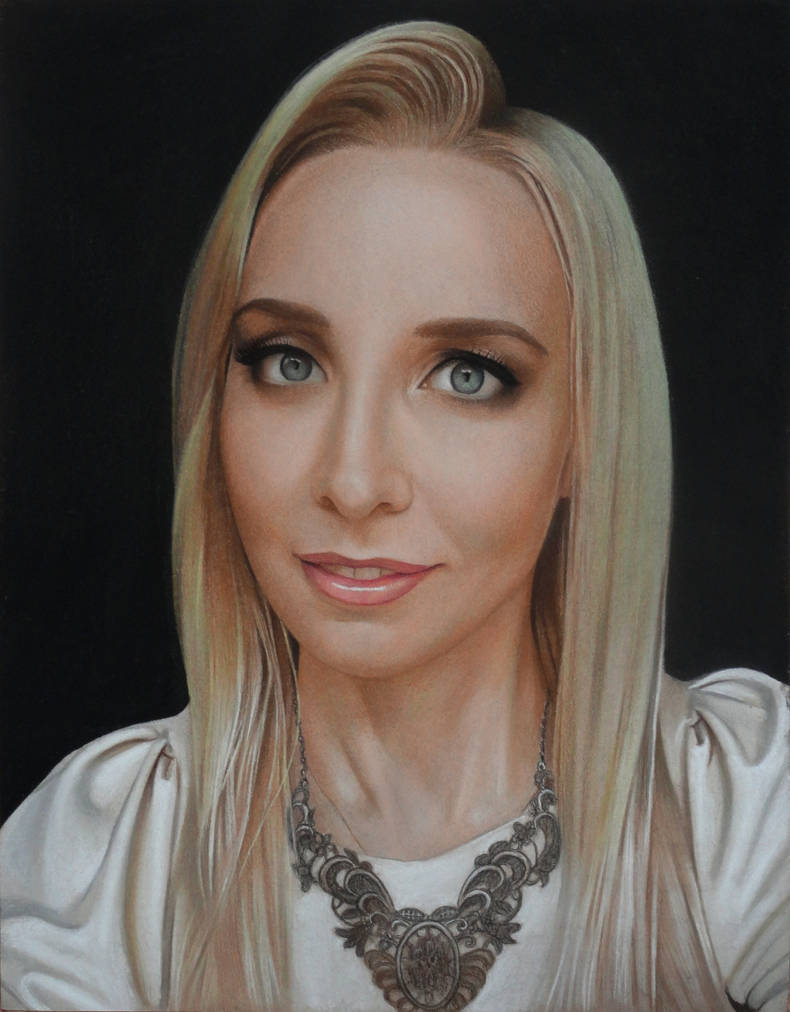 Portrait of girl by Lizapoly