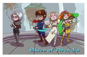 Arcadia postcard by TheHauntedBoy