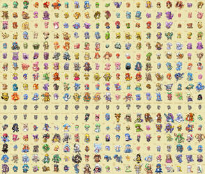 Moemon sprites by mewzard64
