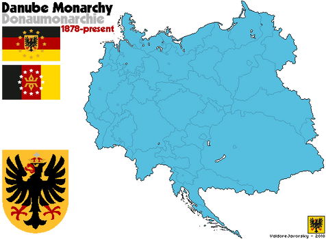 [Nightrise] The Danube Monarchy with Flag and CoA by ValdoreWorks