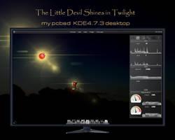 The Li'l Devil Shines in Twilight - PCBSD desktop by rvc-2011