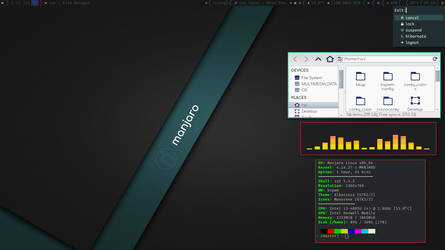 BSPWM on Manjaro - I by rvc-2011
