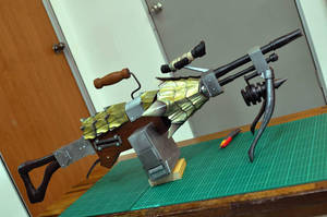 MonHun - Gold Valkyrie Light Bow Gun 1 by Ashed-Dreams