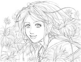 Flower Elf by Glittercandy