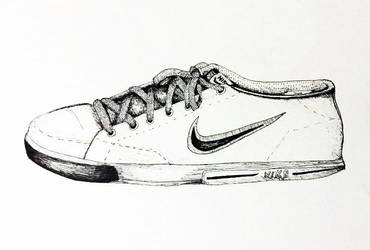 Shoe made with fine point pen by mattie6w